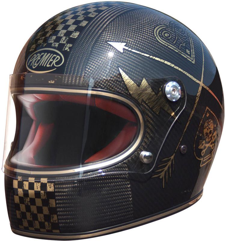 Premier Carbon Trophy NX Gold Chromed Helm