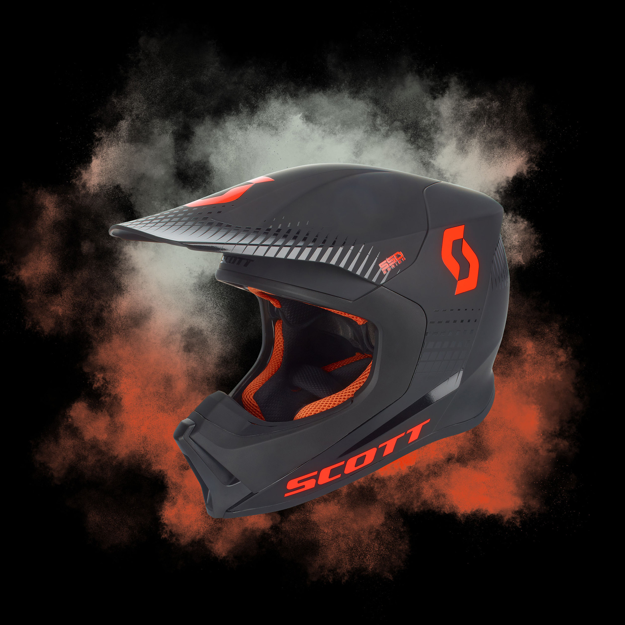 Scott Helmet 550 Hatch Blk/Orange