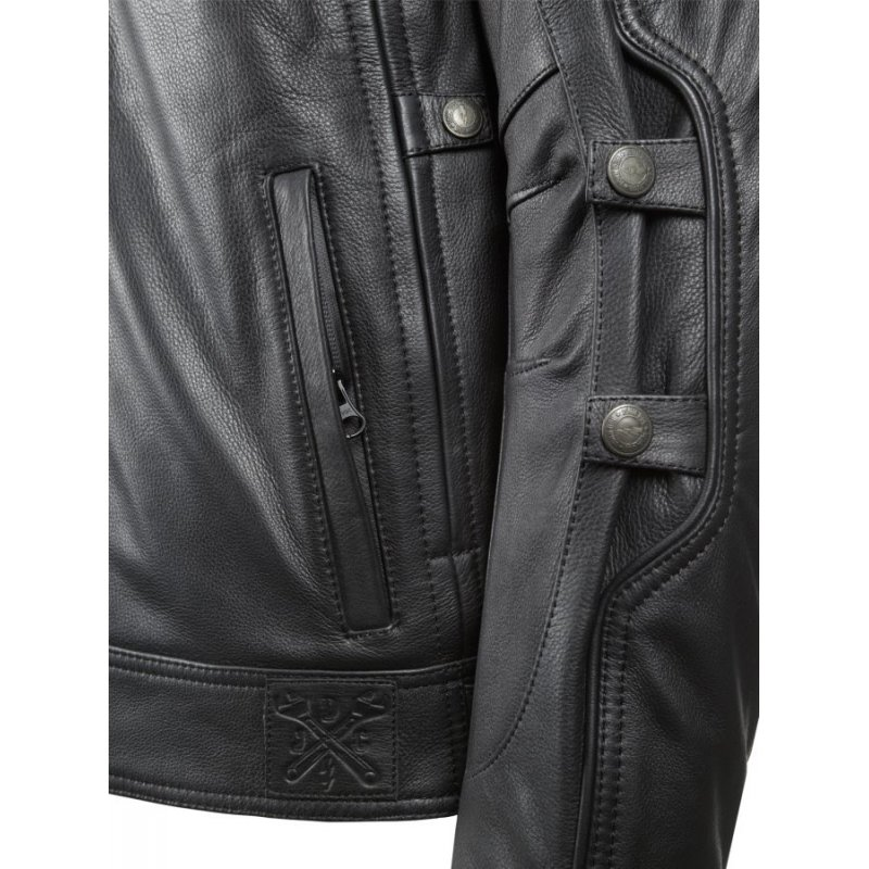 TECHNICAL LEATHER JACKET WITH KEVLAR ® - 0