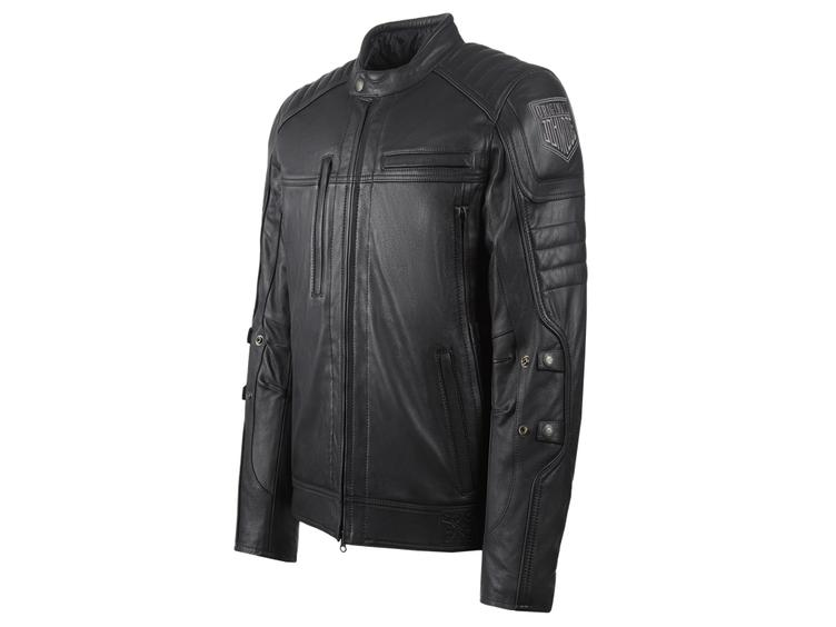 TECHNICAL LEATHER JACKET WITH KEVLAR ®