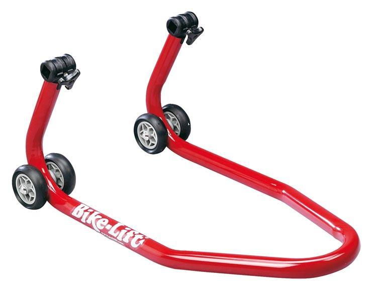 BIKE LIFT Red Universal Front Stand With Roller Adaptors