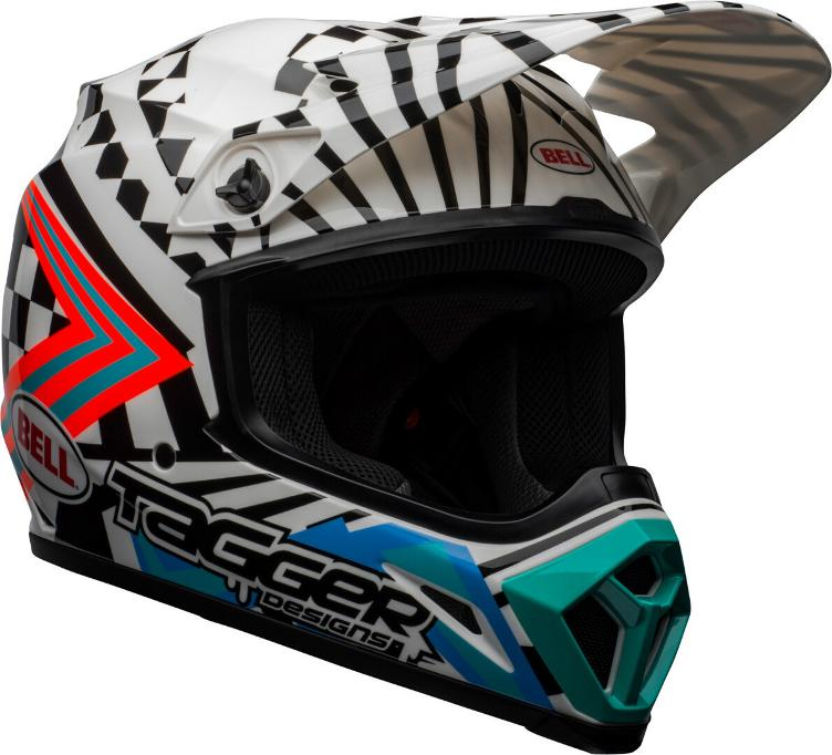 Bell MX-9 Mips Tagger Check Me Out Motocross Helm