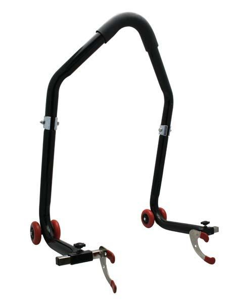 BIHR Universal Dismountable Rear Stand Lift Black with `V` Adapters