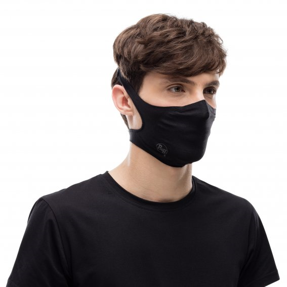 BUFF FILTER MASK SOLID BLACK