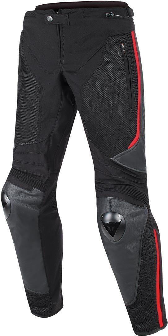 DAINESE MIG LEATHER-TEXTIL PANTS RED