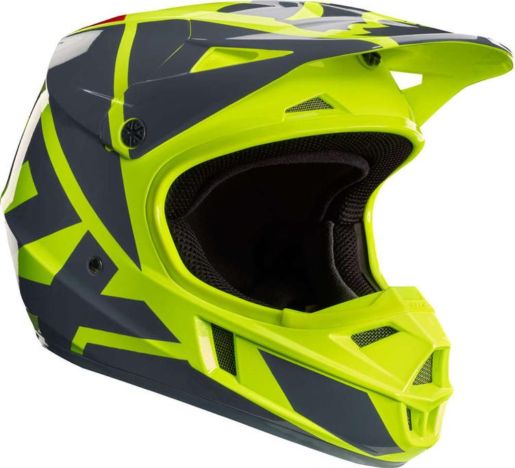 FOX HELM 17 V1 YOUTH RACE YELLOW