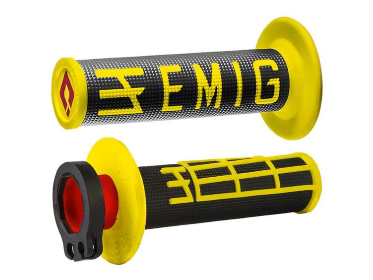 ODI EMIG LOCK ON BLACK YELLOW 2 STROKE